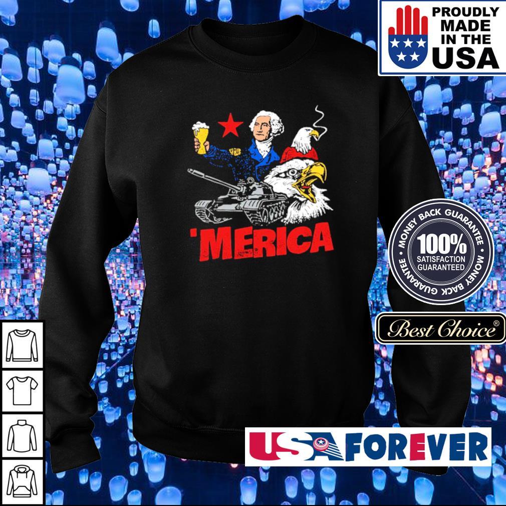 Benjamin Franklin Tank Eagle 'Merica s sweater