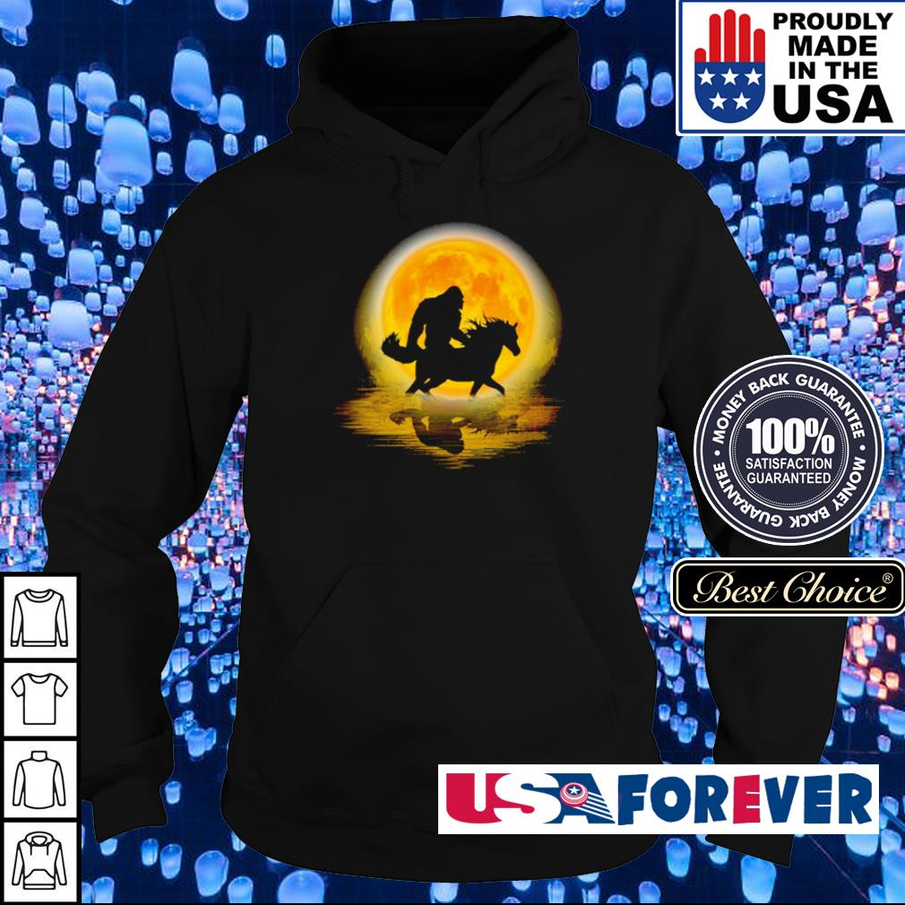 Big foot riding horse s hoodie