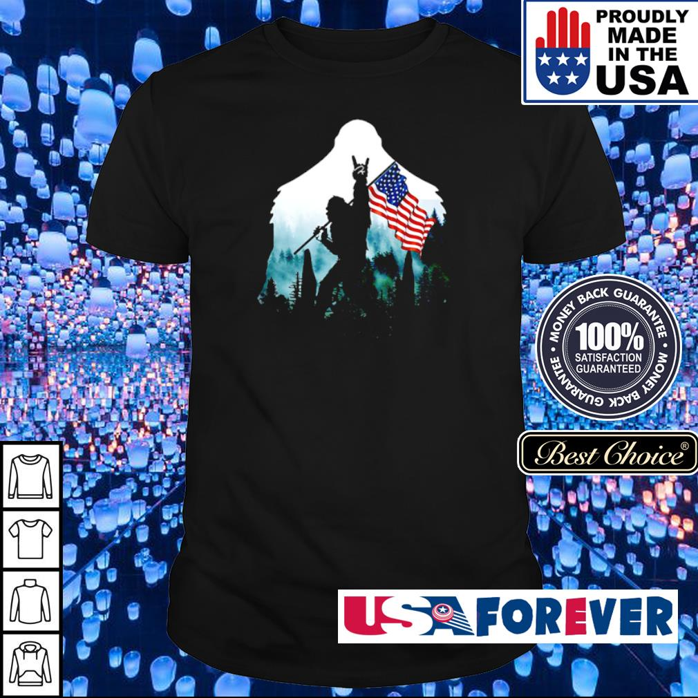 Big Foot Rock N' Roll American Flag shirt