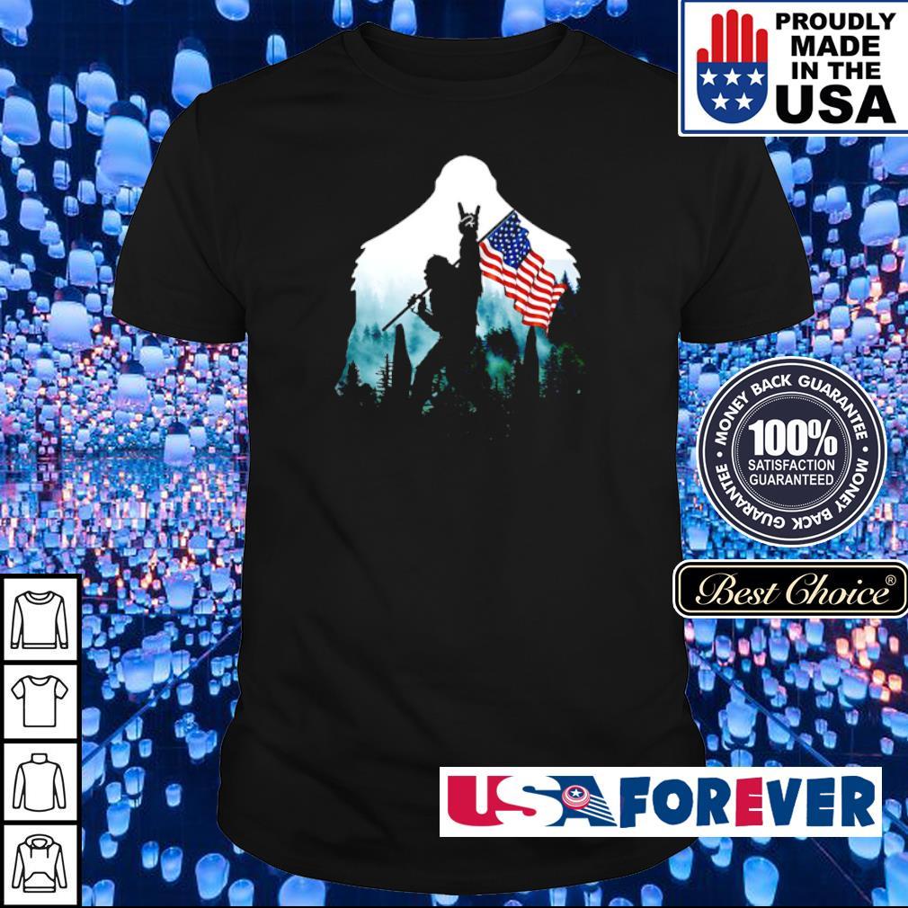 Big Foot Rock N' Roll American Flag shirt
