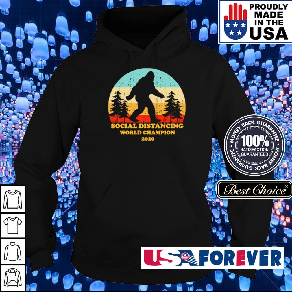 Bigfoot social distancing world champion 2020 s hoodie