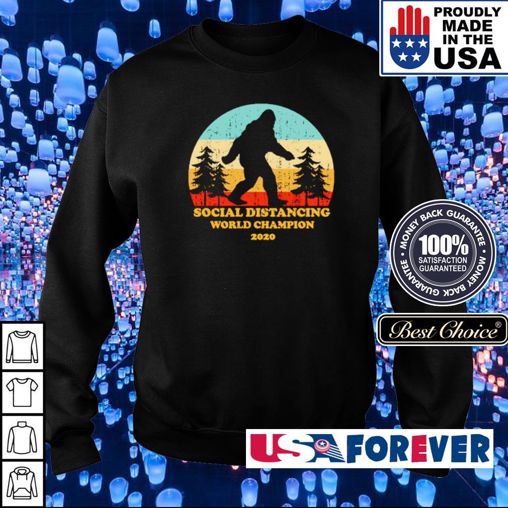 Bigfoot social distancing world champion 2020 s sweater