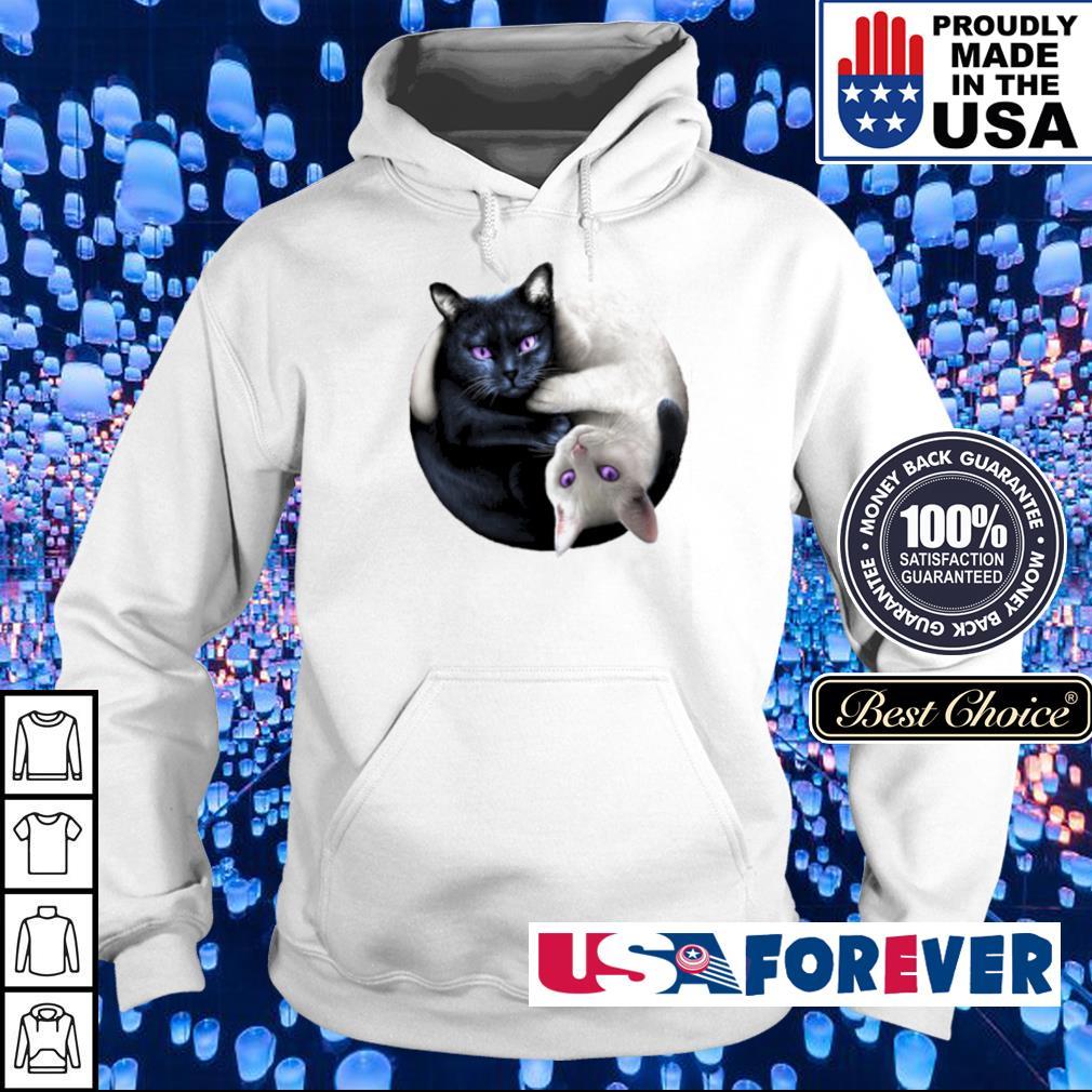 Black and White cat yin yang s hoodie