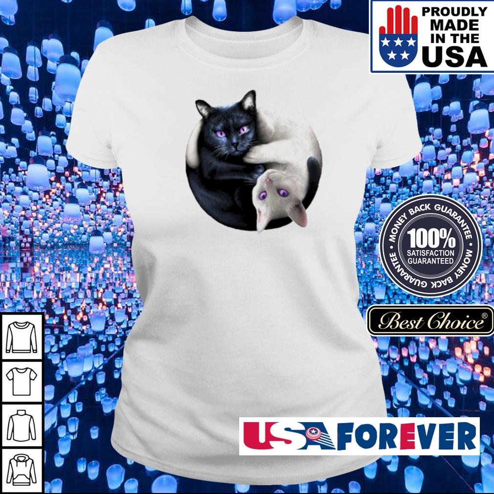 Black and White cat yin yang s ladies