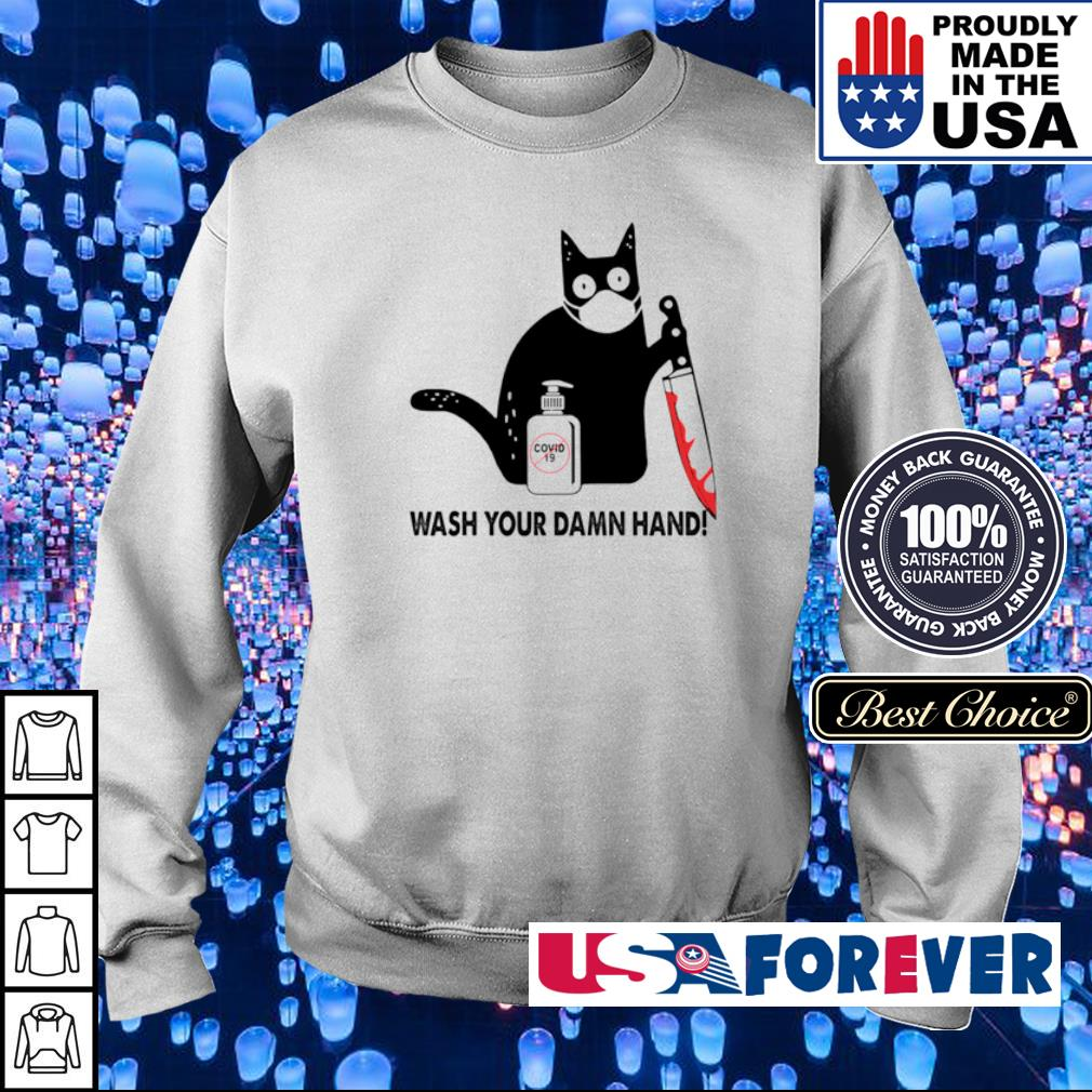 Black cat wash your damn hand s sweater