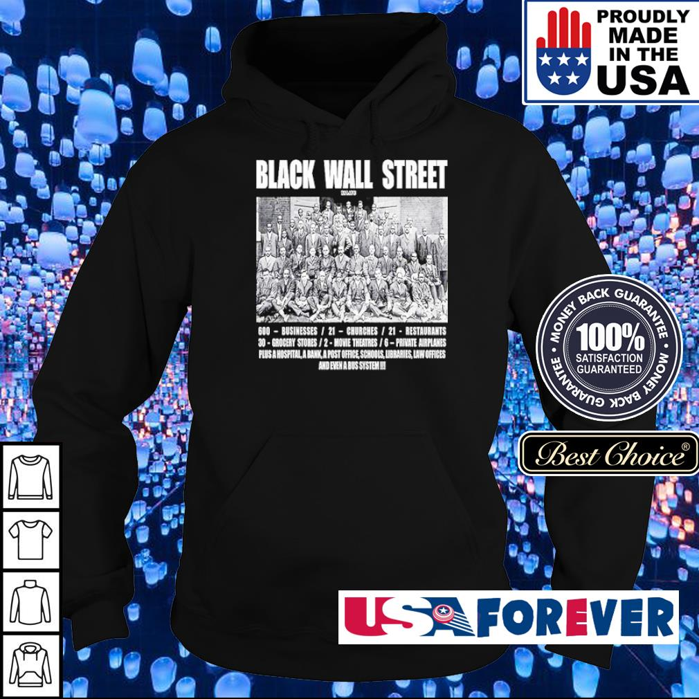 Black Wall Street 600 business 21 churches s hoodie
