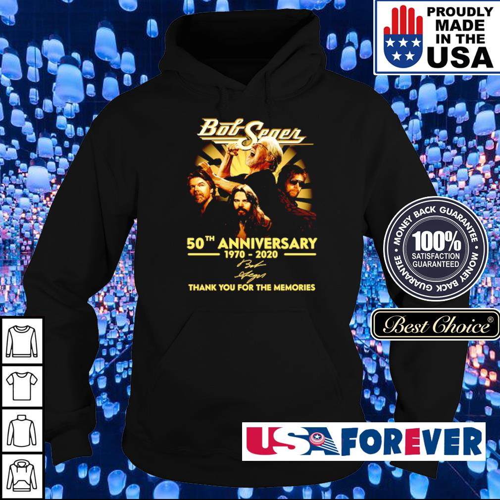 Bob Seger 50th anniversary thank you for the memories s hoodie