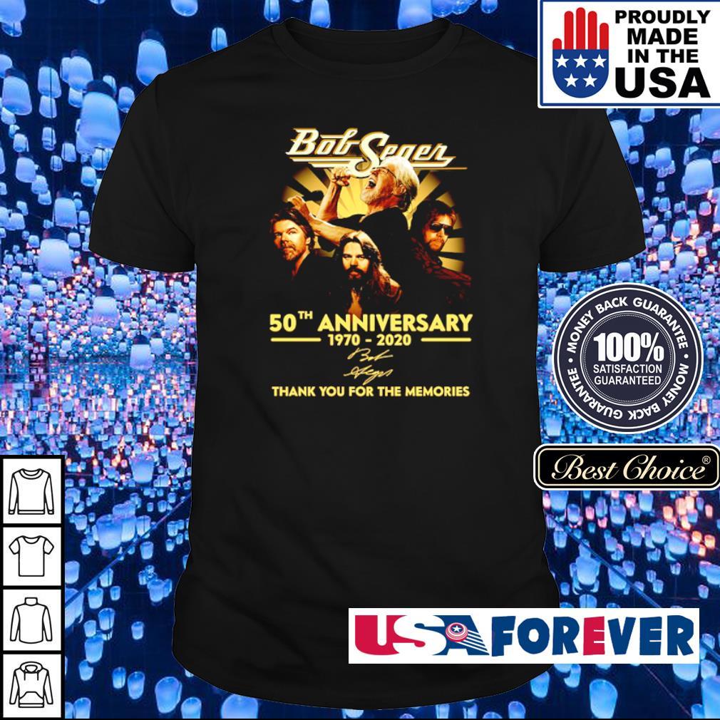 Bob Seger 50th anniversary thank you for the memories shirt
