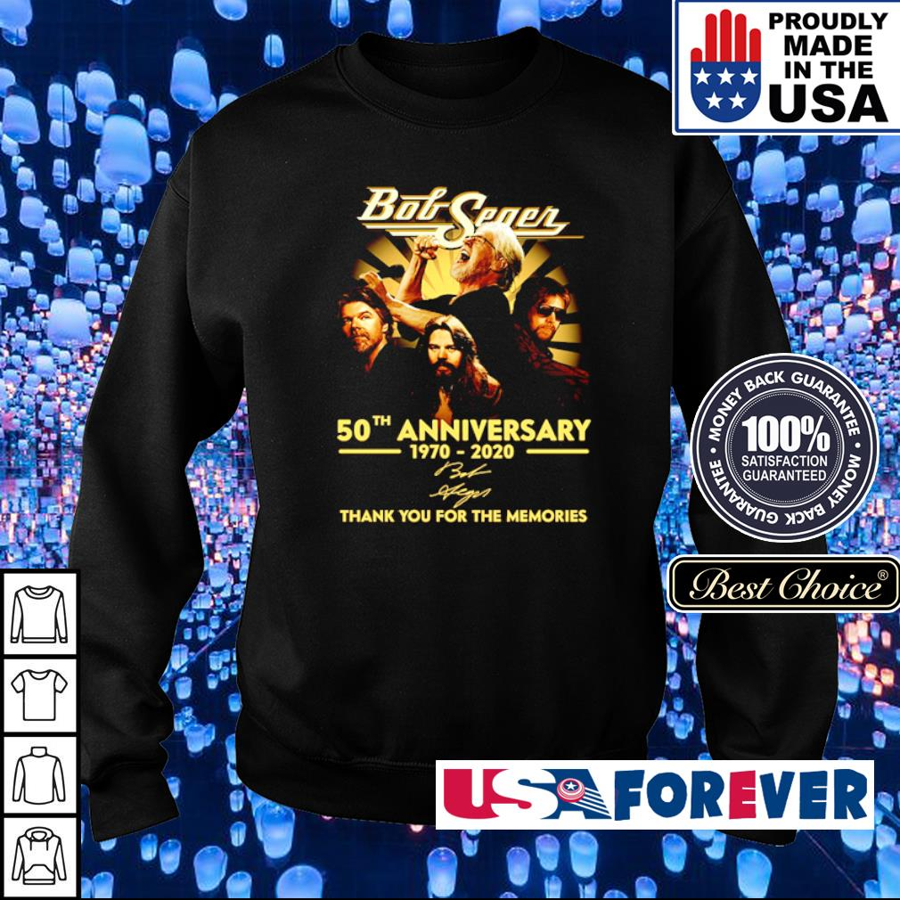 Bob Seger 50th anniversary thank you for the memories s sweater