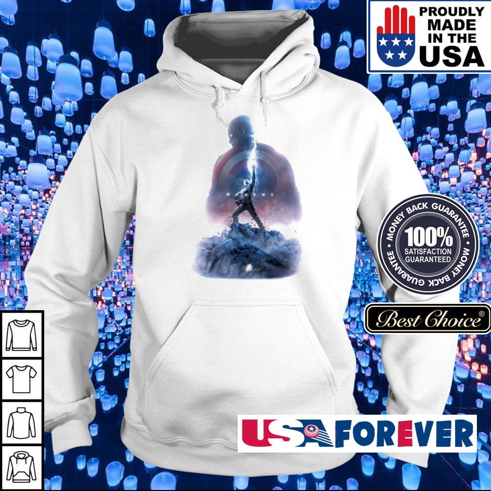 Captain America holding Mjolnir s hoodie