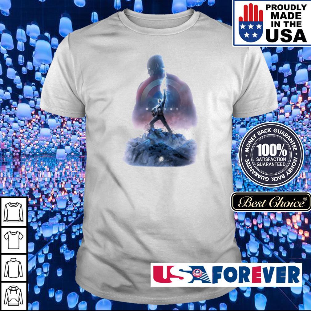 Captain America holding Mjolnir shirt