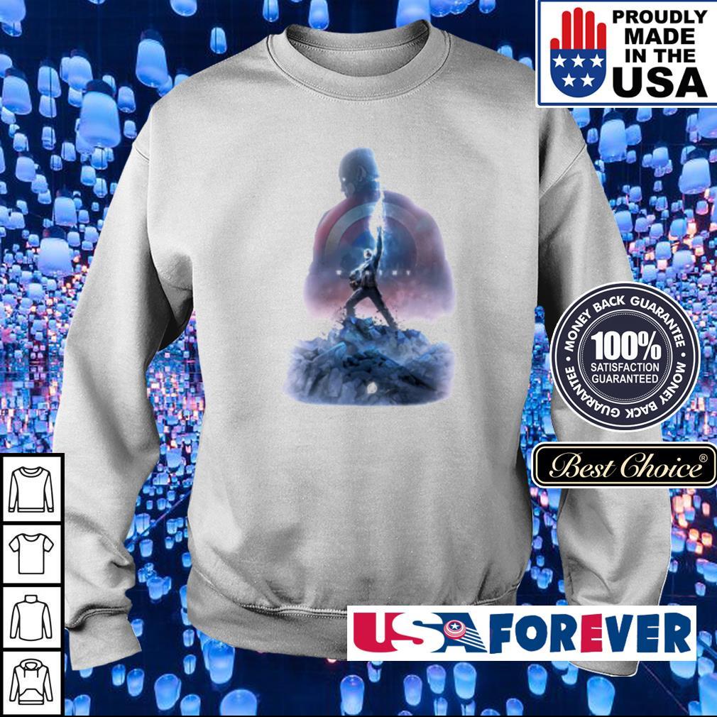 Captain America holding Mjolnir s sweater