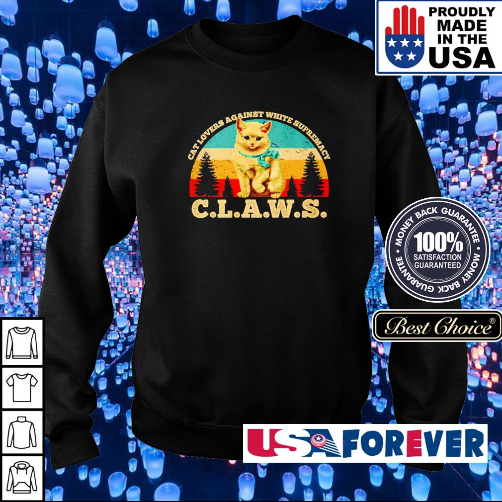 Cat lovers against white supremacy claws vintage s sweater