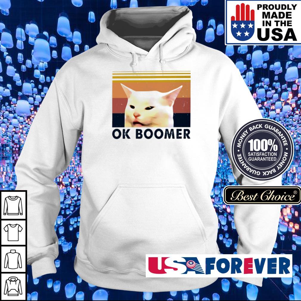 Cat meme ok boomer vintage s hoodie