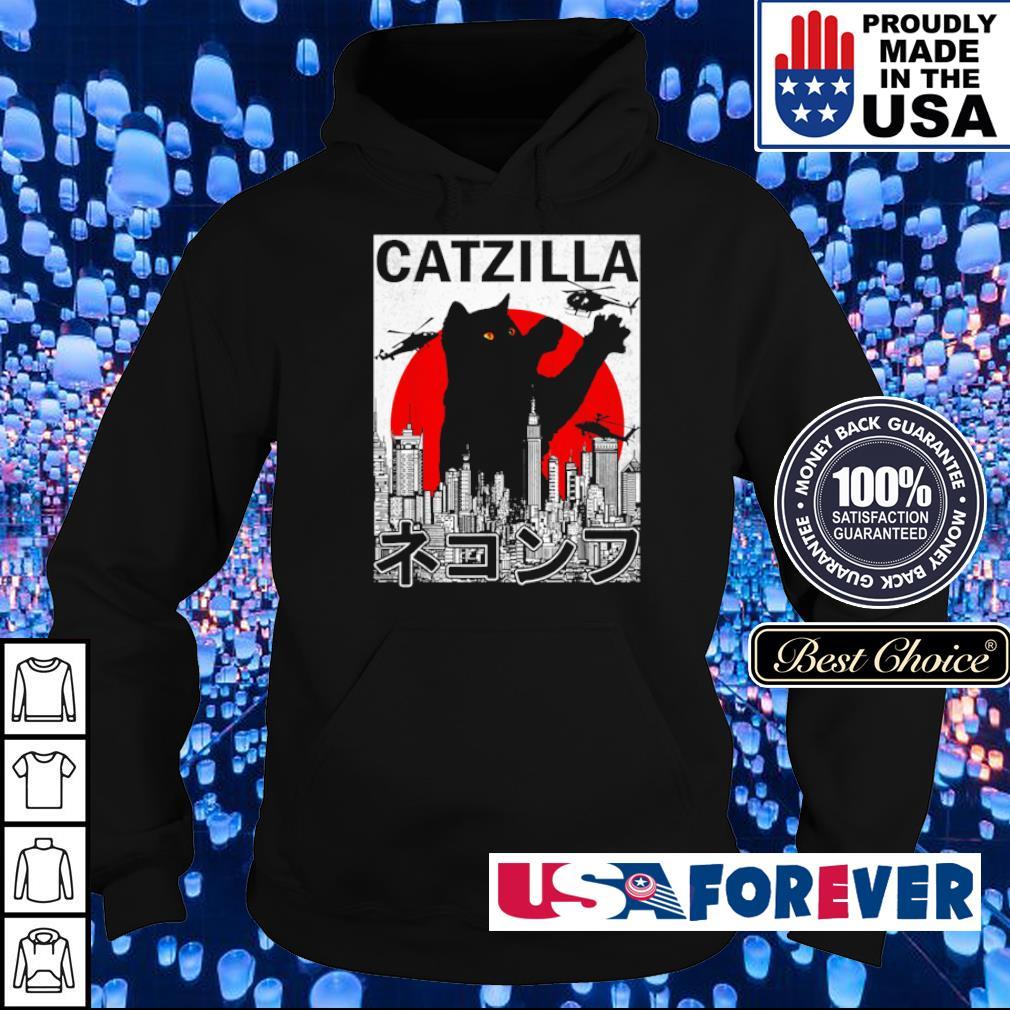 Catzilla Japanese Vintage Sunset Style s hoodie