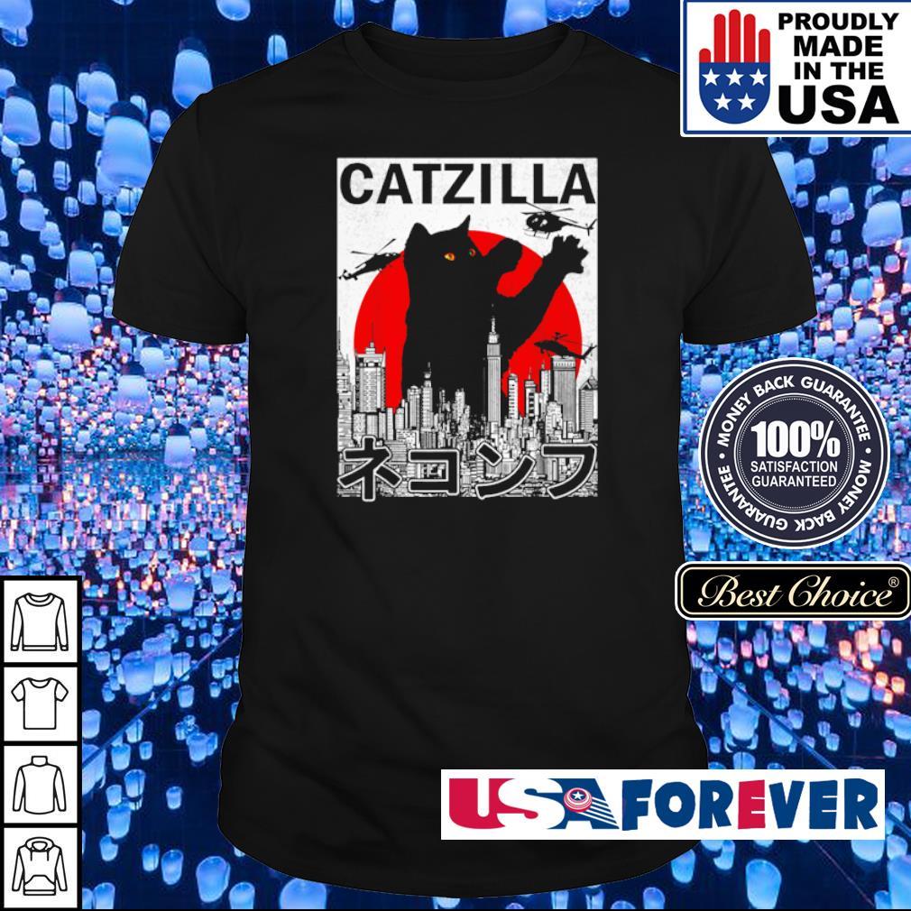 Catzilla Japanese Vintage Sunset Style shirt