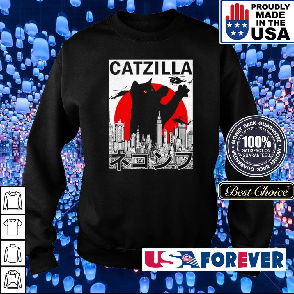 Catzilla Japanese Vintage Sunset Style s sweater