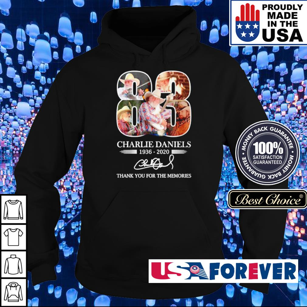Charlie Daniels thank you for the memories s hoodie