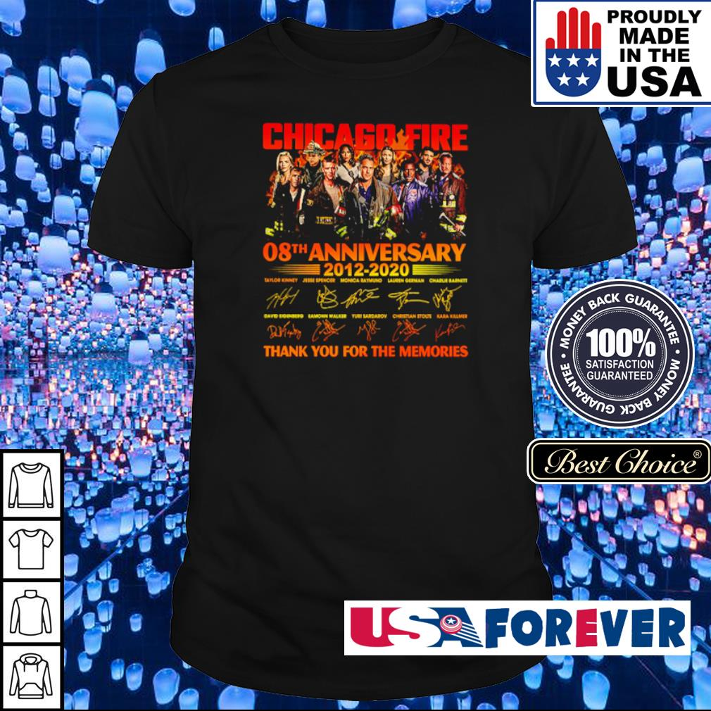 Chicago Fire 08th anniversary 2012 2020 thank you for the memories shirt