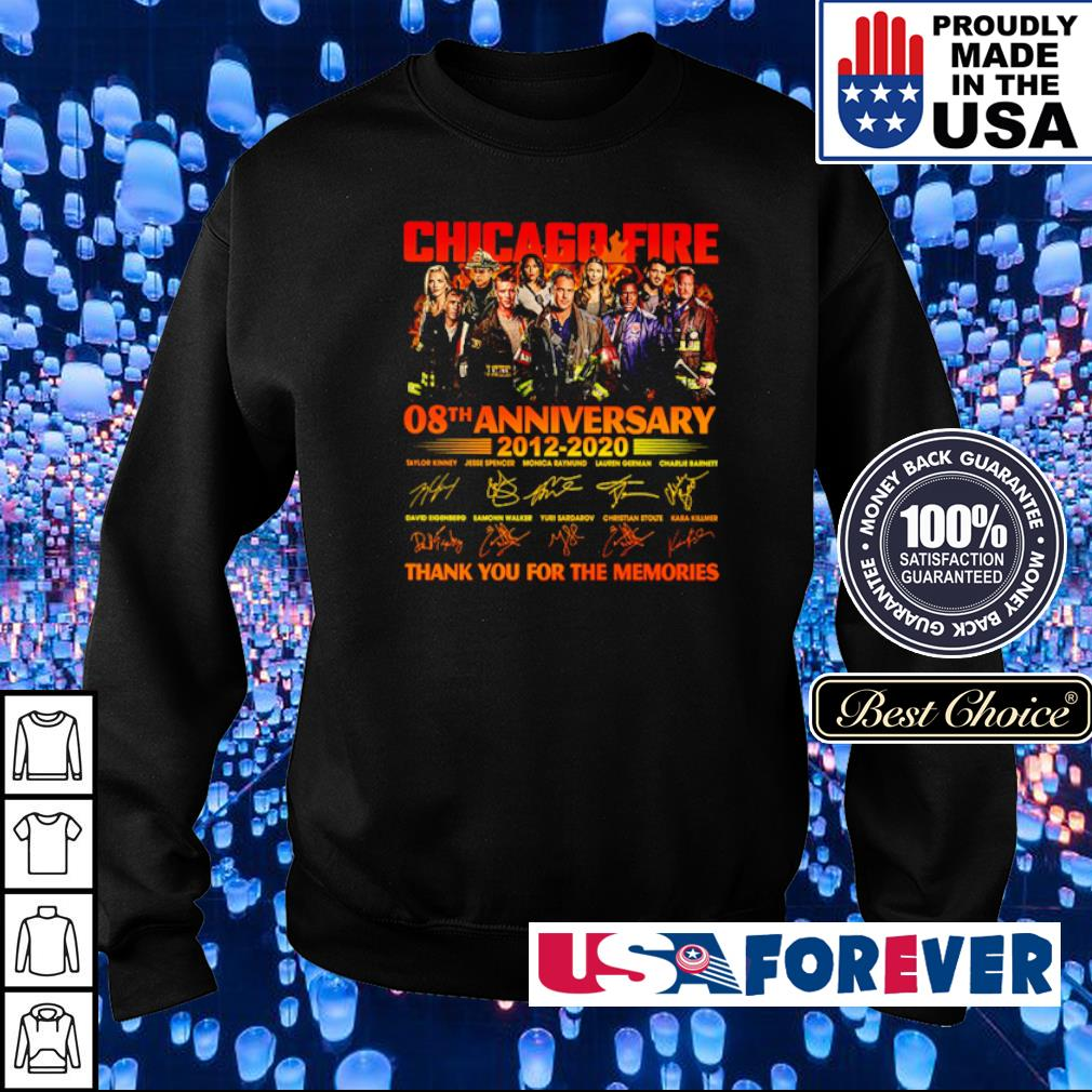 Chicago Fire 08th anniversary 2012 2020 thank you for the memories s sweater