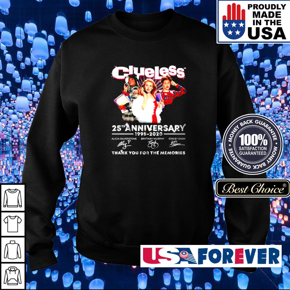 Clueless 25th anniversary 1995-2020 thank you for the memories s sweater