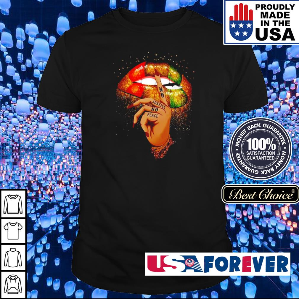 Colorful lips no justice no peace shirt