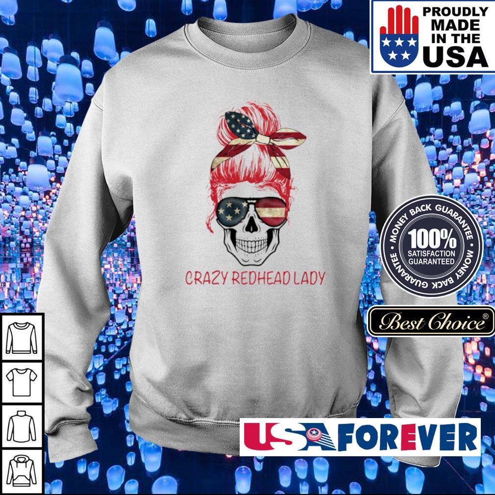 Crazy Redhead Lady Skull s sweater