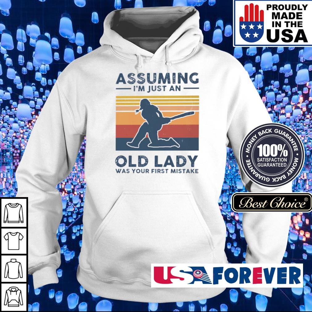 Cricket assuming I'm just an old lady was your first mistake s hoodie