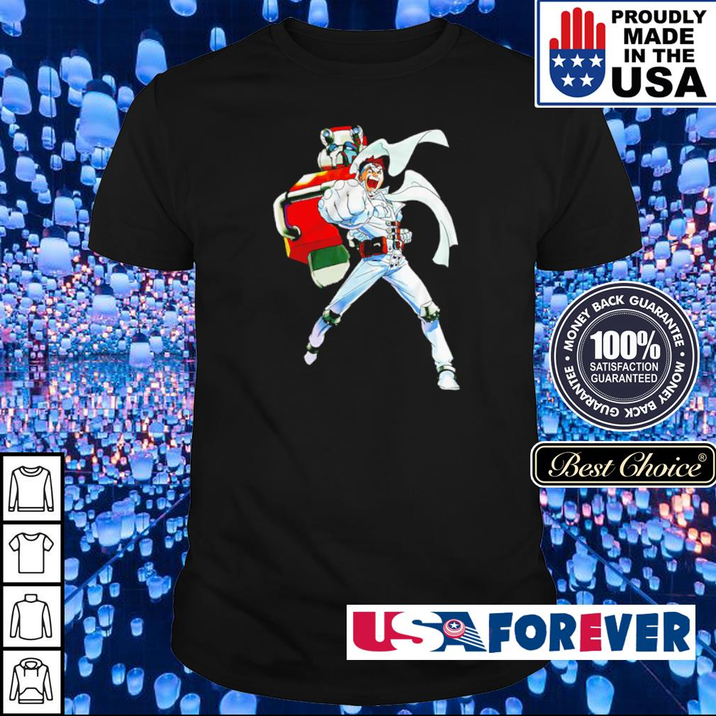 Cyberbots Jin Saotome and Blodia robot punch shirt