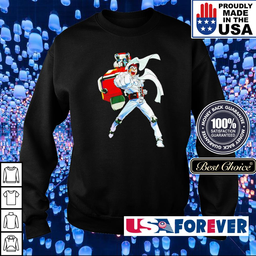 Cyberbots Jin Saotome and Blodia robot punch s sweater
