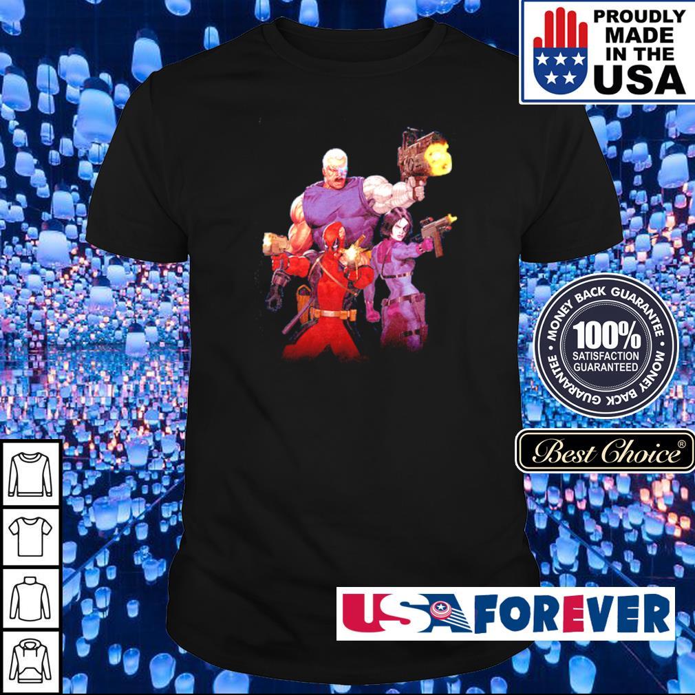 Deadpool and his team shirt
