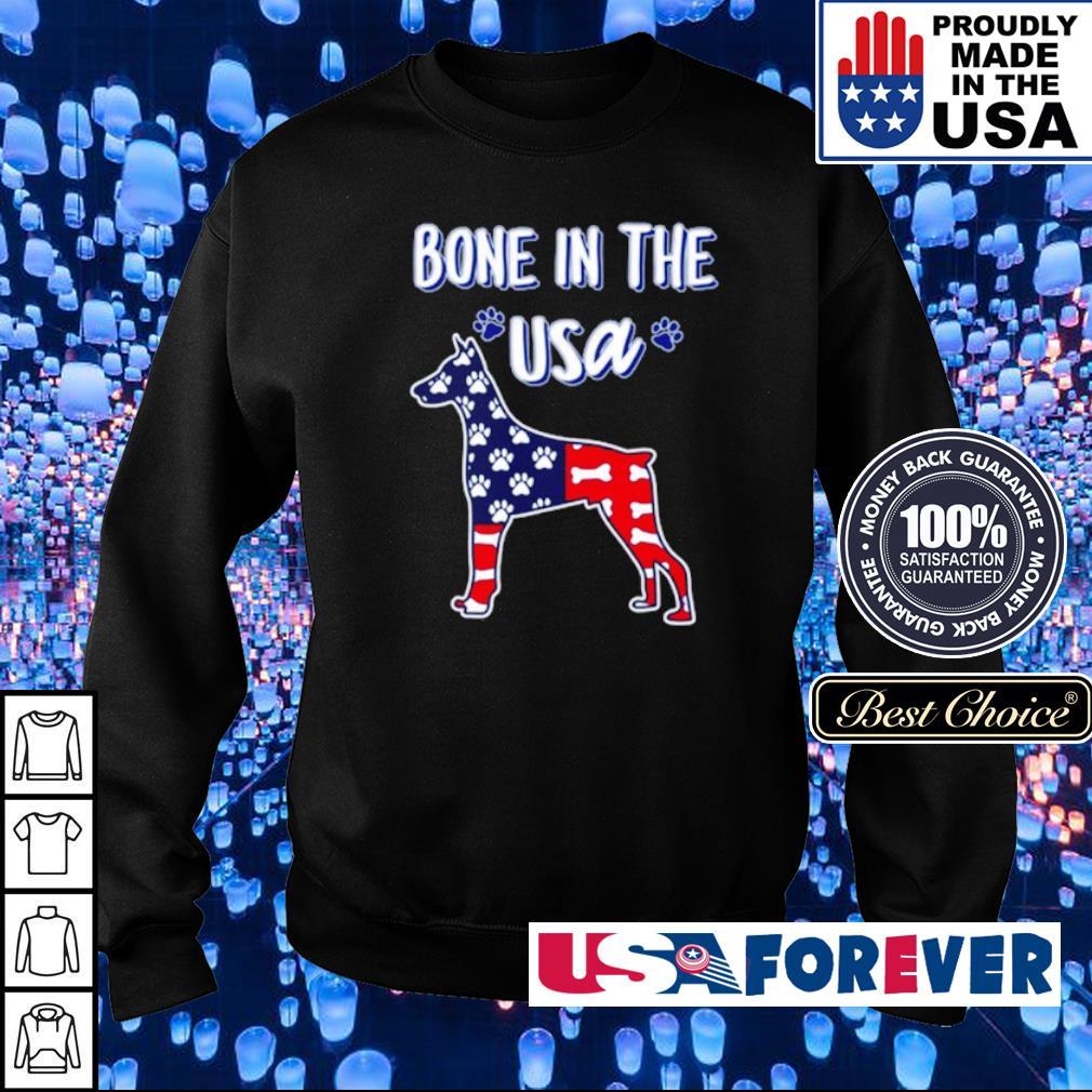 Dobermann bone in the USA s sweater