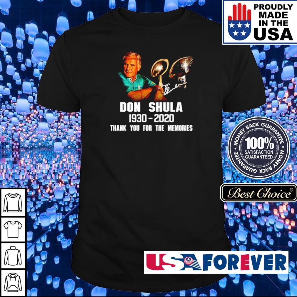 Don Shula 1930 2020 thank you for the memories shirt
