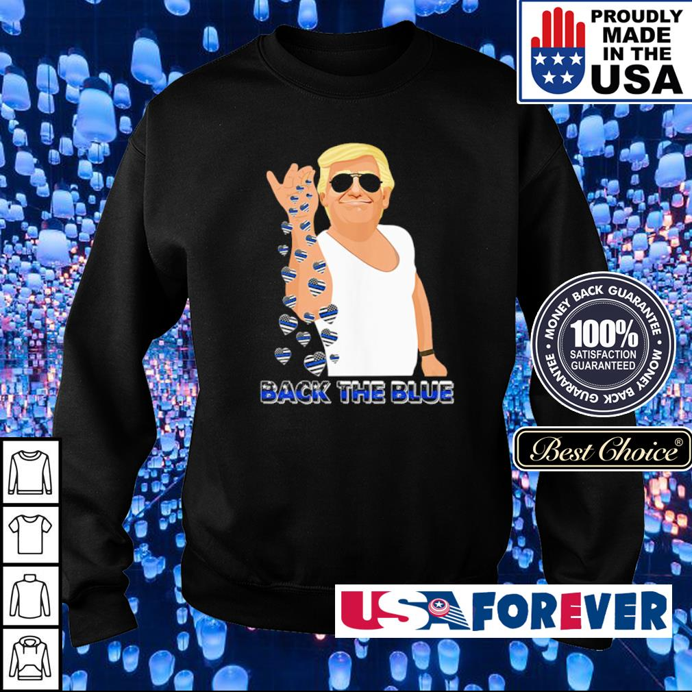 Donald Trump back the blue s sweater
