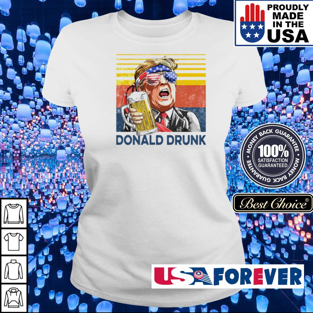 Donlad Trump Drunk vintage s ladies
