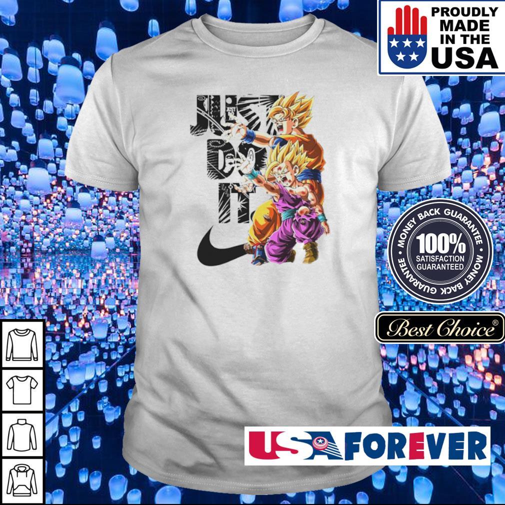 Dragon Ball Goku and Gohan Just Do It shirt