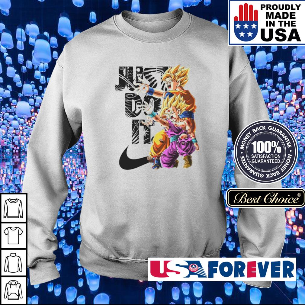 Dragon Ball Goku and Gohan Just Do It s sweater