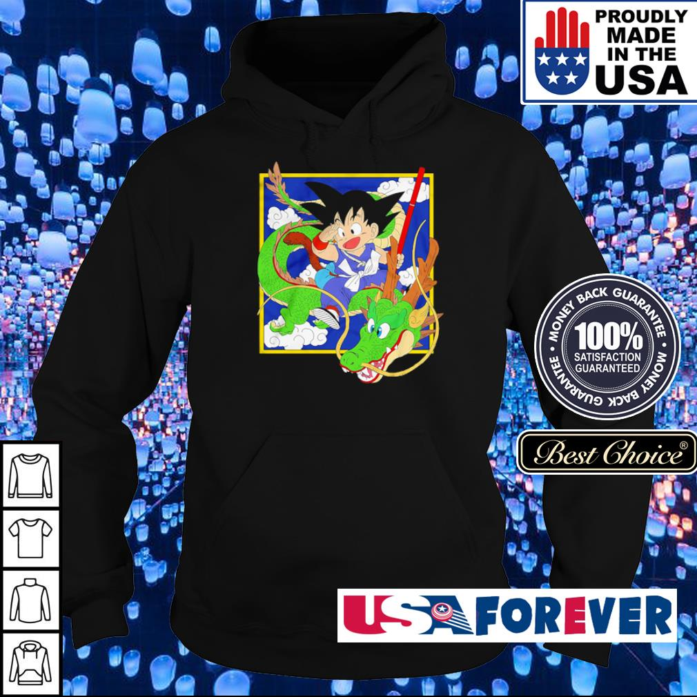Dragon Ball Goku riding Shenron s hoodie