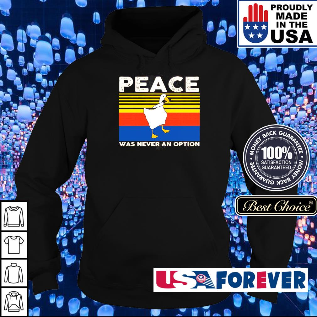 Duck peace was never an option vintage s hoodie