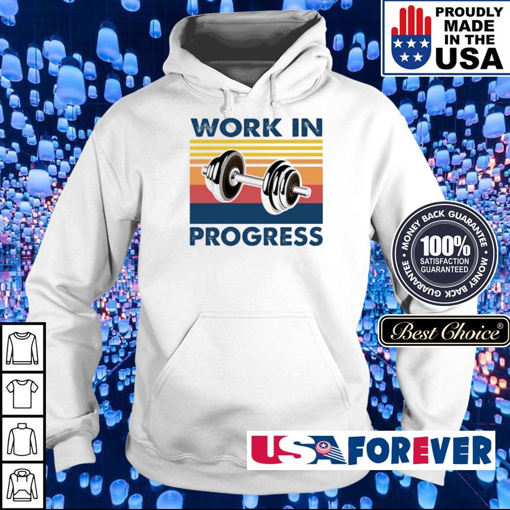 Dumbells work in progress vintage s hoodie