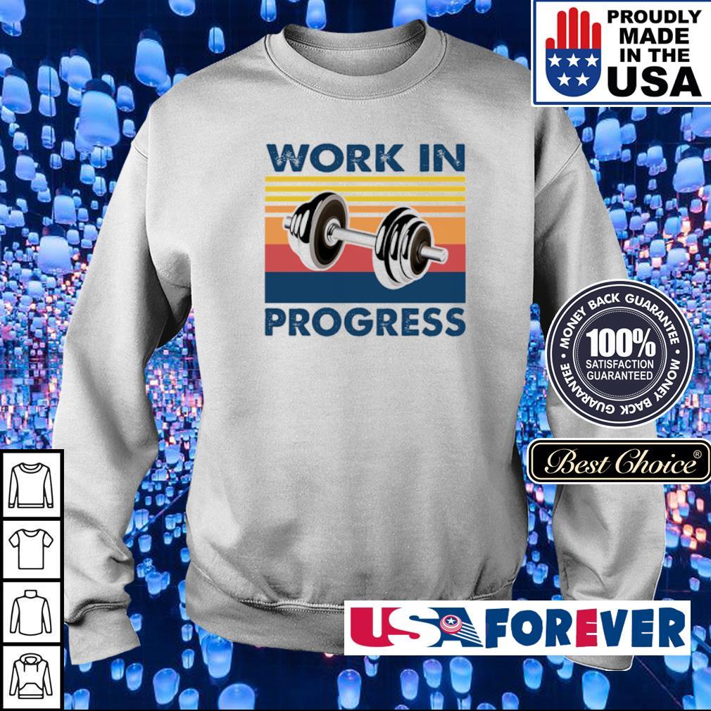 Dumbells work in progress vintage s sweater