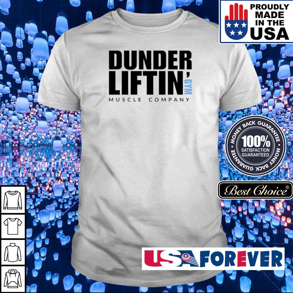 Dunder Liftin' GYM muscle company shirt