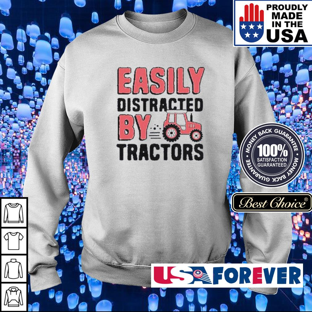 Easily distracted by Tractors s sweater