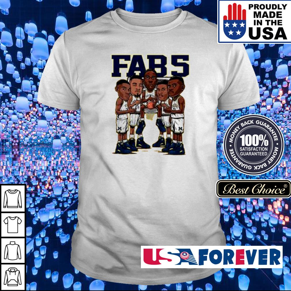 Fab 5 Michigan wearing Jordan 12 Fab 5 shirt
