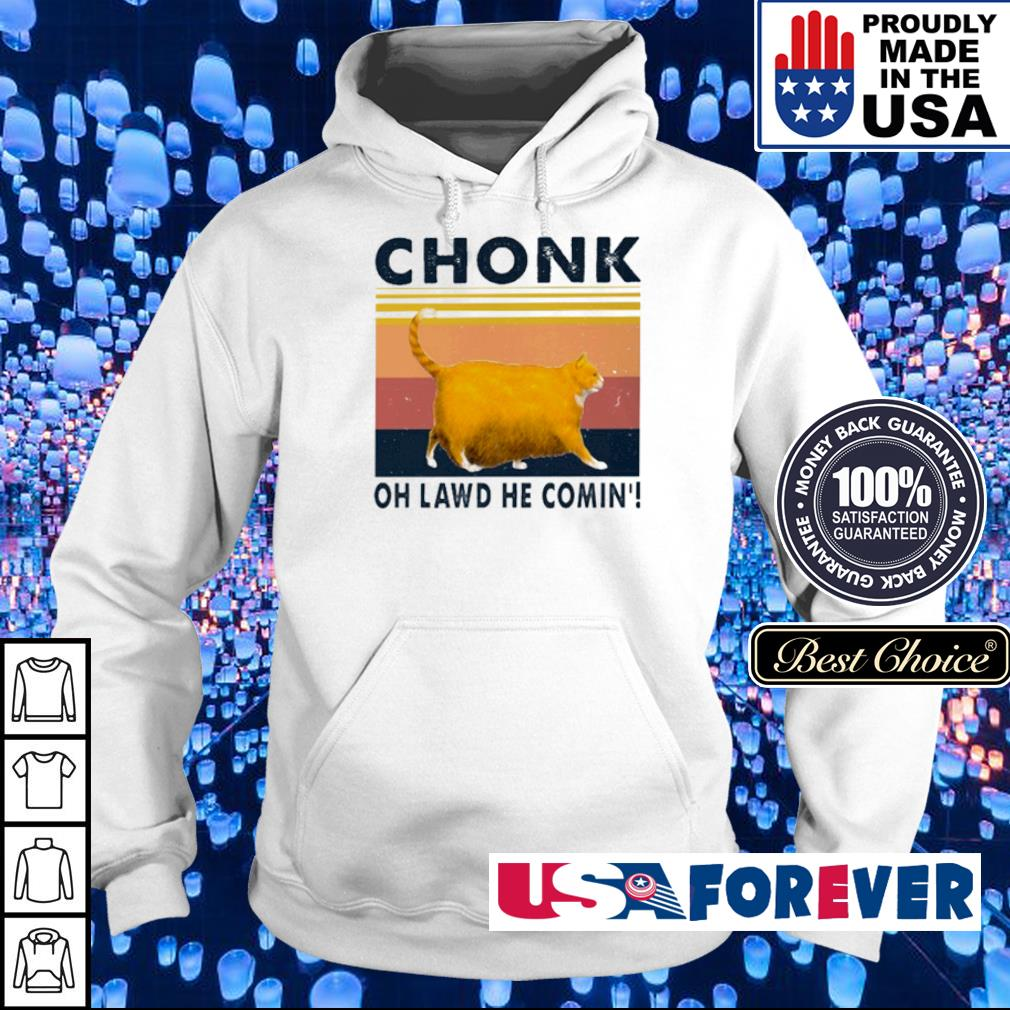 Fat cat chonk oh lawd he comin s hoodie