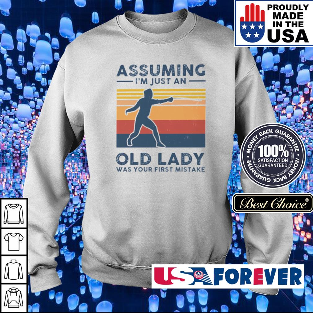 Fencing assuming I'm just an old lady was your first mistake s sweater