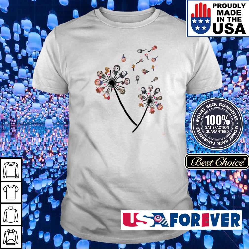 Flower horror chibi cute characters shirt