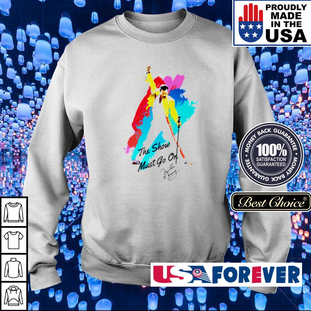 Freddie Mercury the show must go on signature s sweater