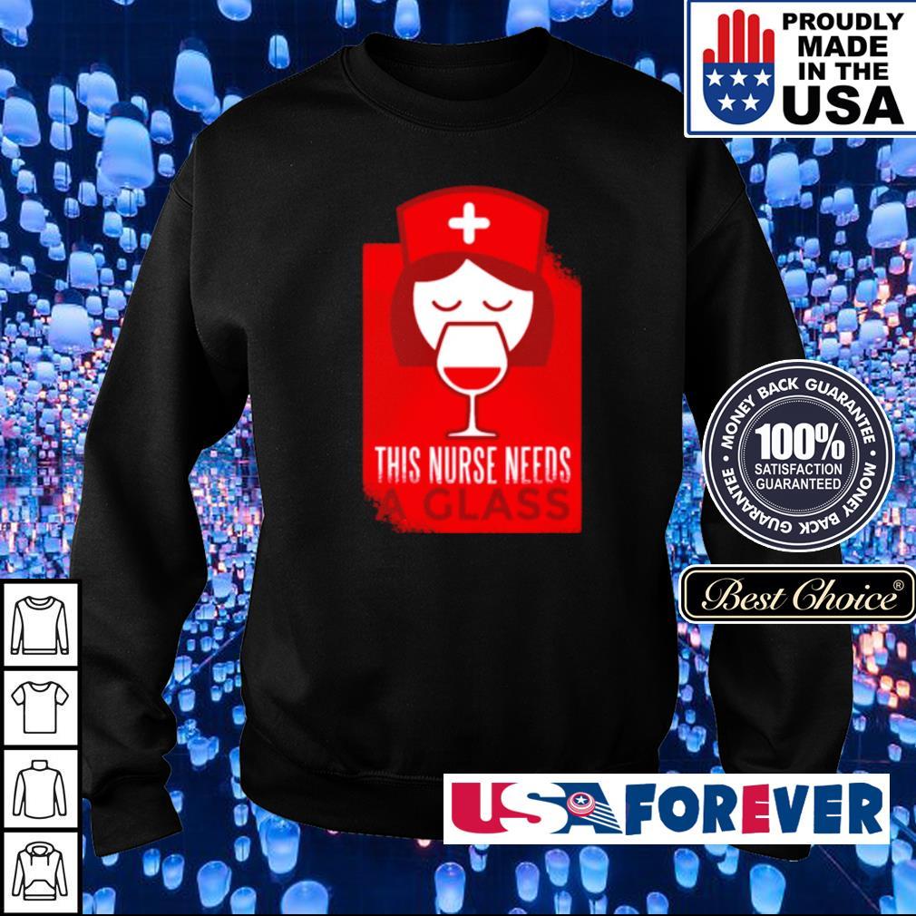 Funny Nurse Drinking Wine Great Nurse s sweater