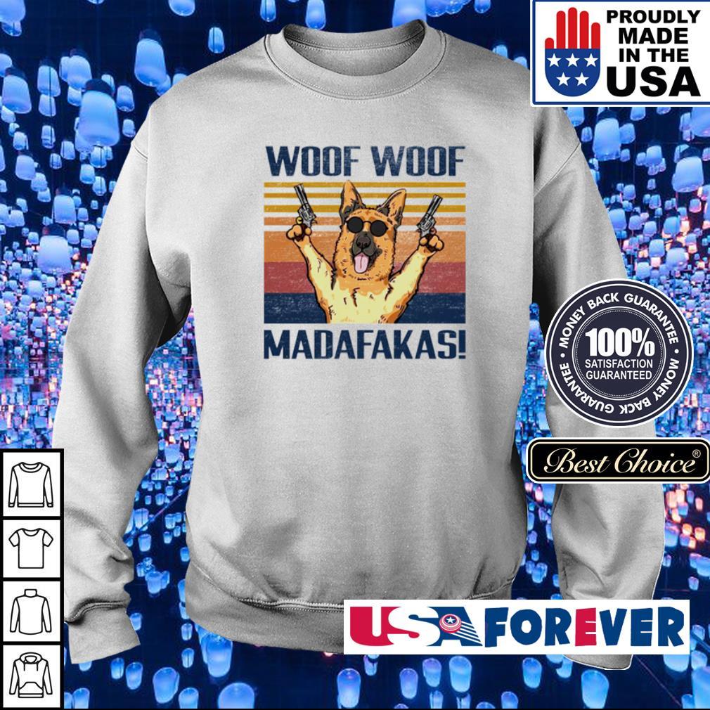 German Shepherd woof woof madafakas s sweater